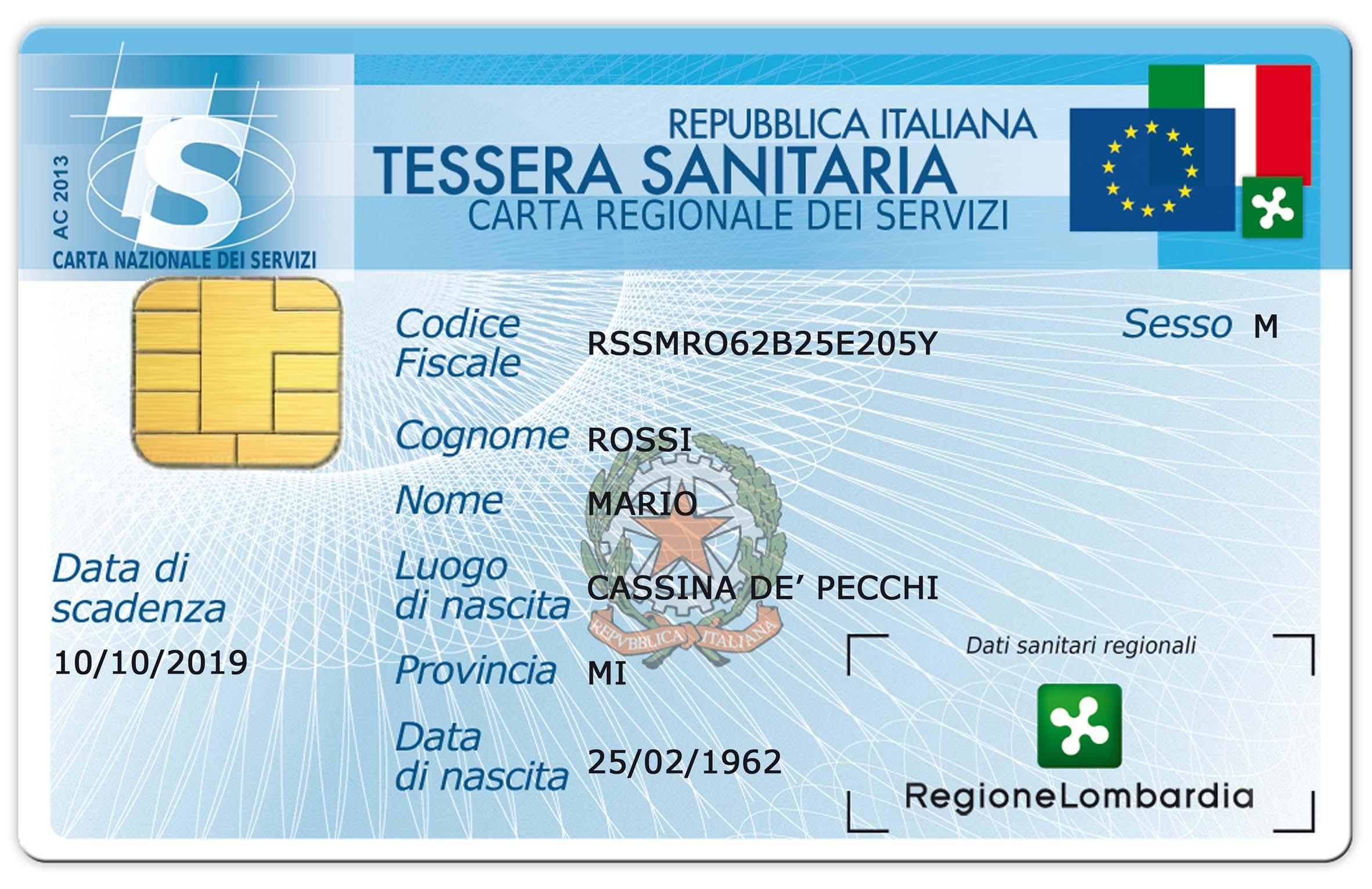 Lombardia: debutta la nuova tessera sanitaria-carta nazionale dei servizi   Sanità24 - Il Sole 24 Ore